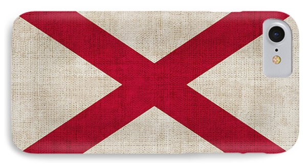 Alabama State Flag IPhone Case by Pixel Chimp