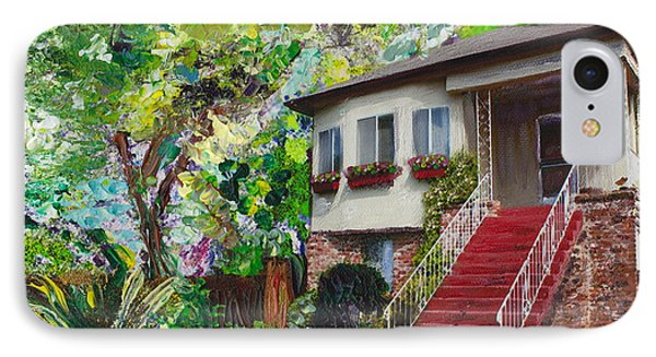IPhone Case featuring the painting Alameda 1908 Duplex by Linda Weinstock