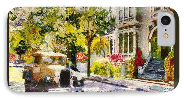 IPhone Case featuring the painting Alameda  Afternoon Drive by Linda Weinstock