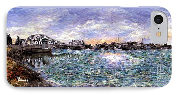 IPhone Case featuring the painting Alameda High Street Bridge  by Linda Weinstock
