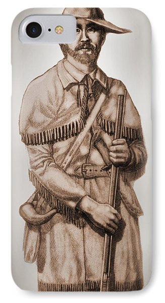 Alamo Defender Frontiersman Phone Case by Dan Terry