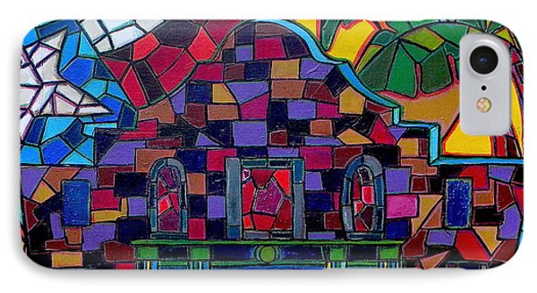 Alamo Mosaic Phone Case by Patti Schermerhorn