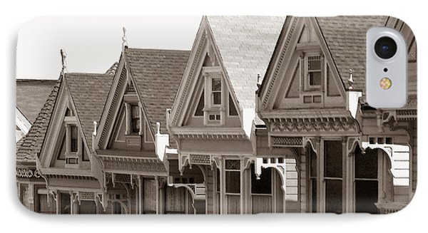 Alamo Square - Victorian Painted Ladies 2009 IPhone Case by Connie Fox