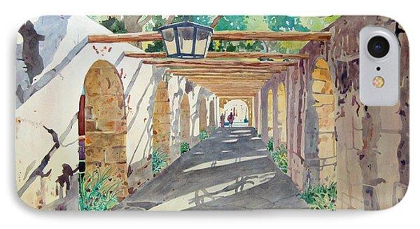 Alamo Walkway IPhone Case by Terry Holliday