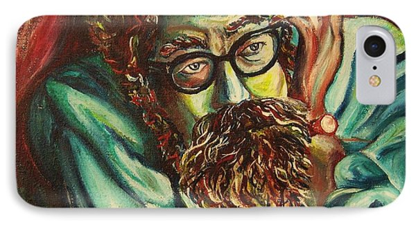 Alan Ginsberg Poet Philosopher IPhone Case by Carole Spandau