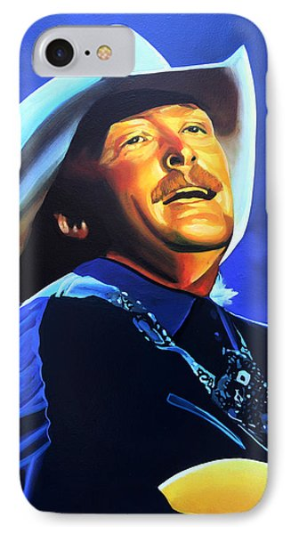 Alan Jackson Painting IPhone Case by Paul Meijering