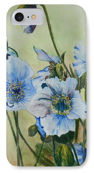 IPhone Case featuring the painting Alaska Blues by Betty-Anne McDonald