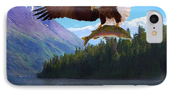 IPhone Case featuring the painting Alaska Fly Fishing by Doug Kreuger