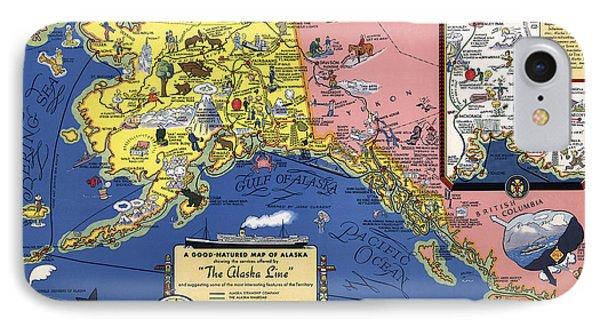 Compass Rose Maps Iphone Cases – Alaska Travel Map