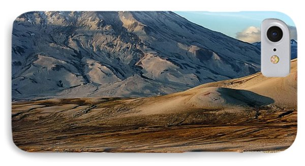 IPhone Case featuring the photograph Alaska Landscape Scenic Mountains Snow Sky Clouds by Paul Fearn