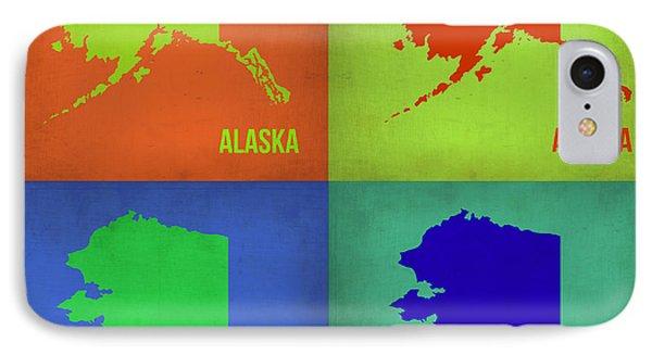 Alaska Pop Art Map 1 Phone Case by Naxart Studio