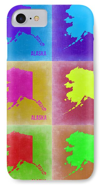 Alaska Pop Art Map 2 Phone Case by Naxart Studio