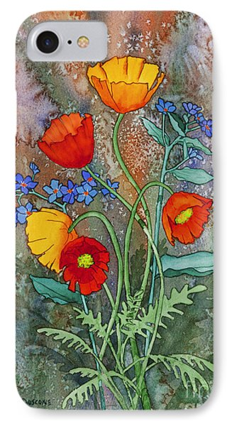 Alaska Poppies And Forgetmenots IPhone Case