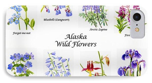 Alaska Wild Flower Poster IPhone Case