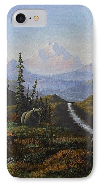 Alaskan Brown Bear IPhone Case by Richard Faulkner