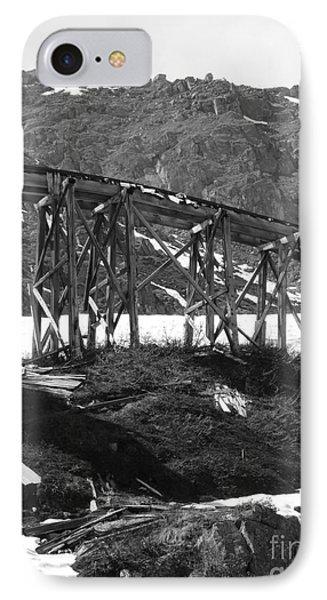 Alaskan Mine Track IPhone Case by Dani Abbott