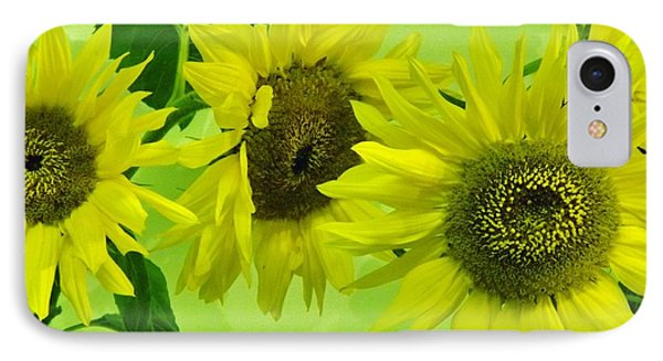 IPhone Case featuring the photograph Alaskan Sunflowers by Brigitte Emme