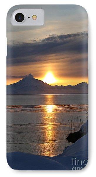 Alaskan Sunset Phone Case by Rick  Monyahan