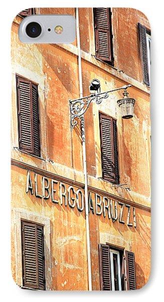 Albergo Abruzzi IPhone Case by Valentino Visentini