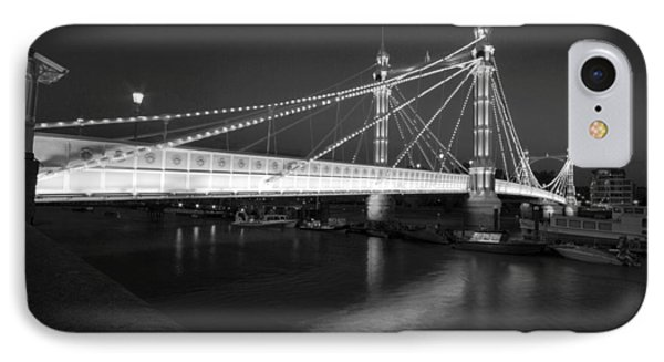 Albert Bridge At Night  IPhone Case by David French