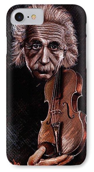 Albert Einstein And Violin Phone Case by Daliana Pacuraru