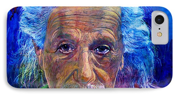 Albert Einstein IPhone Case by David Lloyd Glover