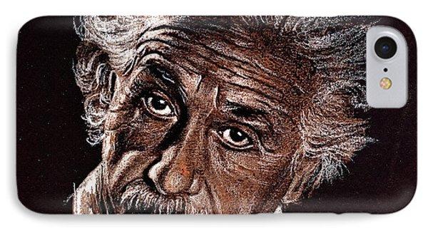 Albert Einstein Portrait Phone Case by Daliana Pacuraru