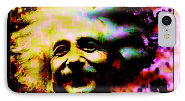 Albert Einstein - Why Is It That Nobody Understands Me - Yet Everybody Likes Me IPhone Case by Elizabeth McTaggart