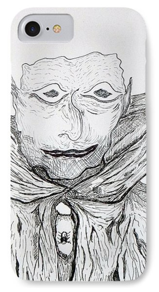 IPhone Case featuring the drawing Albert by Martin Blakeley