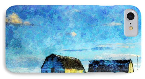 Alberta Barn At Sunset IPhone Case