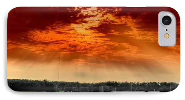 IPhone Case featuring the photograph Alberta Canada Cattle Herd Hdr Sky Clouds Forest by Paul Fearn