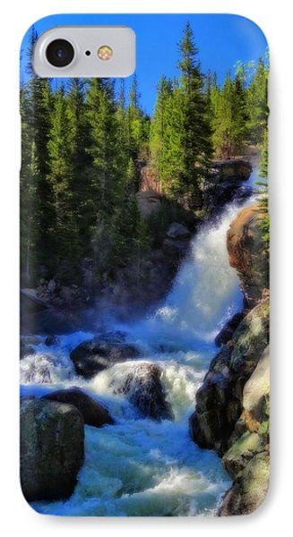 Alberta Falls In Rocky Mountain National Park IPhone Case by Dan Sproul
