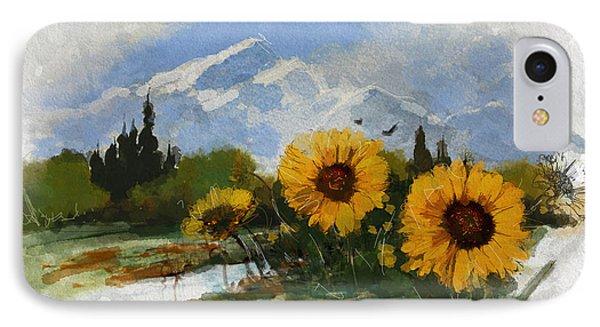 Alberta Landscape 001 IPhone Case by Mahnoor Shah