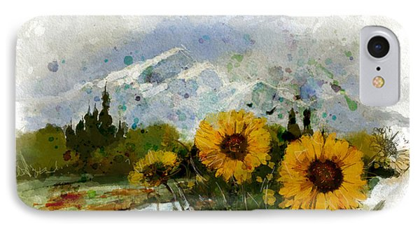Alberta Landscape 1b IPhone Case by Mahnoor Shah