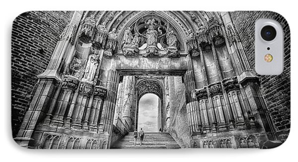 Albi Cathedral Arch To Heaven Bw IPhone Case by Jack Torcello