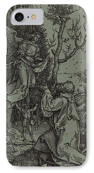 Albrecht Dürer German, 1471 - 1528, Joachim And The Angel IPhone Case by Quint Lox