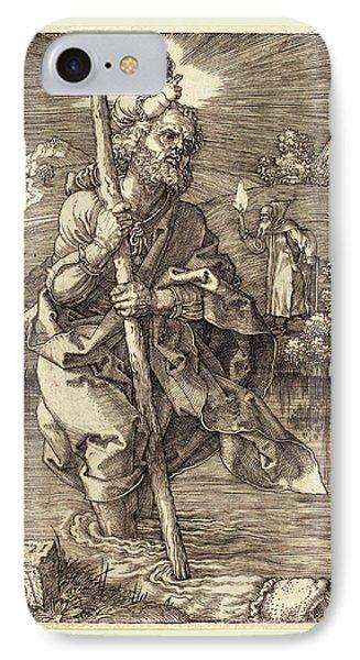 Albrecht Dürer German, 1471-1528, Saint Christopher Facing IPhone Case