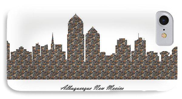 Albuquerque New Mexico 3d Stone Wall Skyline IPhone Case