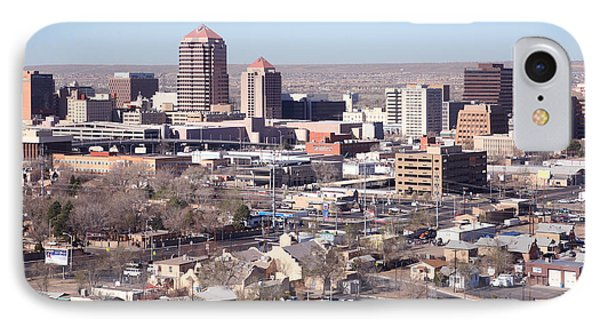Albuquerque Skyline Phone Case by Bill Cobb