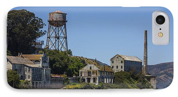Alcatraz Dock And Water Tower Phone Case by John McGraw