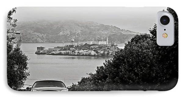 Alcatraz Island From Hyde Street In San Francisco Phone Case by RicardMN Photography