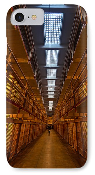 Alcatraz Main Cell Block IPhone Case by Steve Gadomski