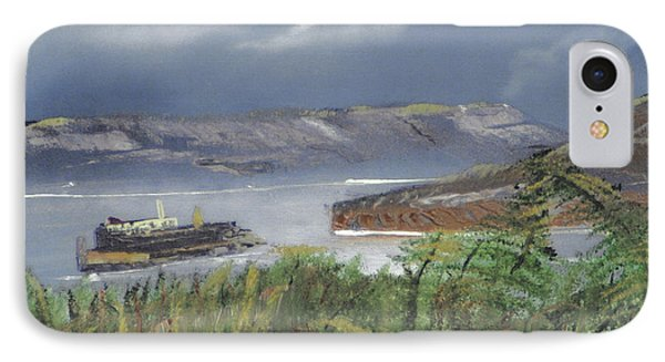IPhone Case featuring the painting Alcatraz by Michael Daniels