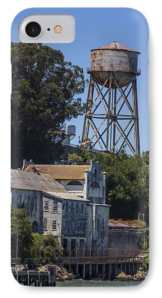 Alcatraz Water Tower IPhone Case by John McGraw