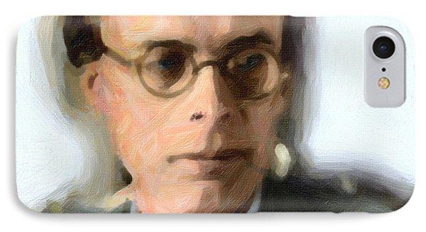 Aldous Huxley IPhone Case by Celestial Images