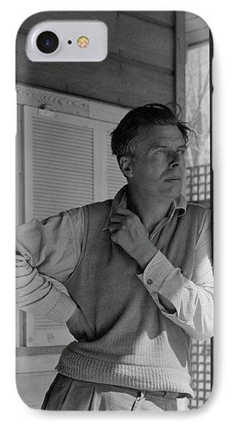 Aldous Huxley On A Porch IPhone Case by George Platt Lynes