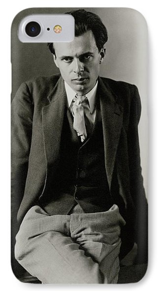 Aldous Huxley Wearing A Three-piece Suit IPhone Case by Charles Sheeler