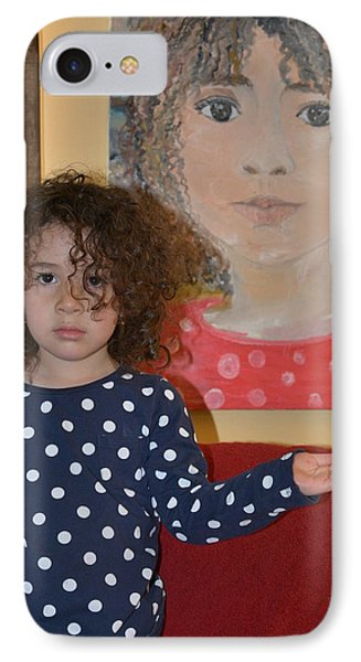 Alex And Her Portrait IPhone Case by Evelina Popilian