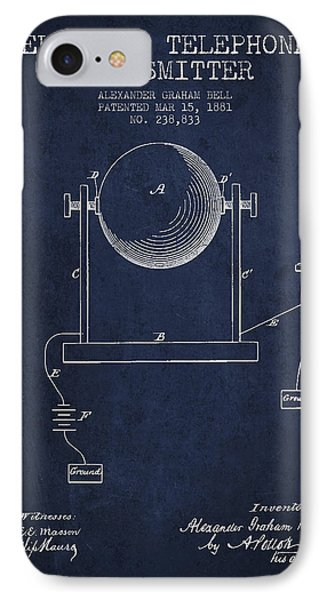 Alexander Graham Bell Electric Telephone Transmitter Patent From IPhone Case by Aged Pixel