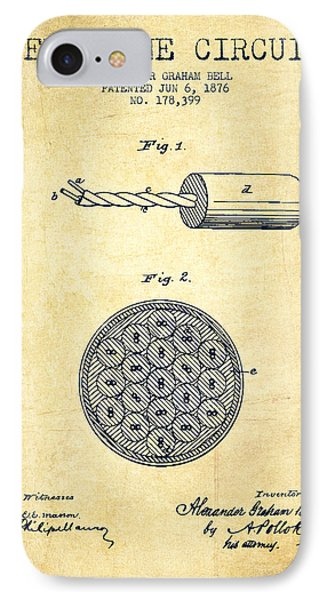 Alexander Graham Bell Telephone Circuit Patent From 1876 - Vinta IPhone Case by Aged Pixel